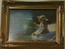 ONE SUMMER DAY DONALD ZOLAN FRAMED LITHOGRAPH NUMBERED PRINT PEMBERTON OAKS 1992