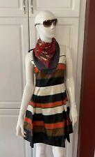 PRADA Striped Silk Dress Sz 38 Italy Lined Zip