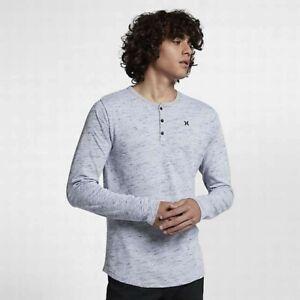 Hurley Dr-Fit San Clemente Henley White Lifestyle Men's Long Sleeve top  L, XL
