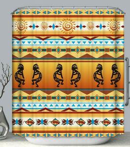 Southwest Kokopelli Sunset Fabric SHOWER CURTAIN Southwestern Aztec Bath Decor