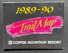 Copper Mountain Colorado Summit County Vintage Ski Trail Maps 1989-1990