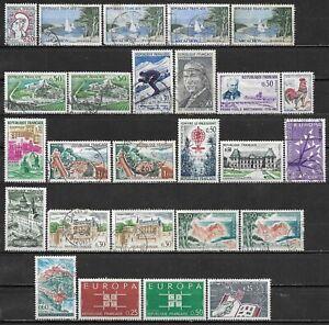 1961-1963 FRANCE LOT OF 26 USED/UNUSED STAMPS Scott CV $7.85