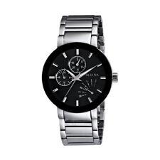 Bulova Men's 96C105 Black Multi Function Stainless Steel Watch