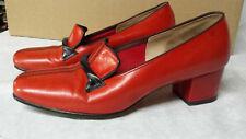 Vintage Red / Orange Leather Heels Ramblers A Florsheim Shoe Women's Us size 5.5
