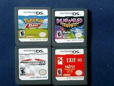 Nintendo DS DSI DS XL Game Lot Of 4 Pokemon Dash, Mario Kart, Exit DS, More