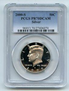 2000 S 50C Silver Kennedy Half Dollar PCGS PR70DCAM