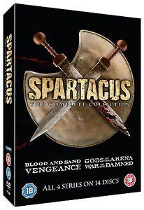 SPARTACUS the complete series season 1, 2, 3 & 4 DVD box set