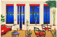 """FANCH LEDAN """"BALCONY OVER BAHIA"""" SN LE SERIGRAPH WITH COA  HAND SIGNED BY ARTIST"""
