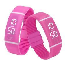 Men Women Sports Watch Rubber LED Date Digital Watch Bracelet Wristwatch L