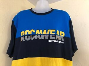 Rocawear Blue/Black/Yellow Graphic S/S T-Shirt Size 3XL