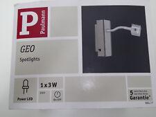 Paulmann 664.77 LED Geo Flex Spotlight Balken 3W Chrom Wandleuchte Lampe 66477 B