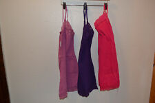 Ladies Juniors Bozollo Cami Camisole Lot of 3 Rose Purple Pink Lace NEW