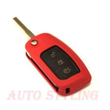 RED KEY COVER PER TELECOMANDO FORD PROTECTOR FLIP SHELL FOB 2 3 pulsante AUTO 43R