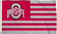 Ohio State Buckeyes 3' x 5' Flag (Stripes) NCAA Licensed