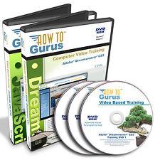 New Adobe Dreamweaver CS5 HTML JavaScript CSS Tutorial Training 40 hrs 3 DVDs