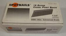 "SpotNails #18528 1 3/4"" Chisel Point Brads 18 Gauge Galvanized"