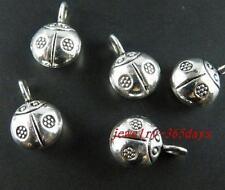 "50pcs Tibetan Silver 3D  ""ladybug"" Charms 13.5x9mm 10287"