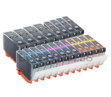 20 inchiostri della stampante per PGI-5BK PGI5BK CLI8BK 8C 8M 8Y CANON PIXMA STAMPANTI ridotto in schegge