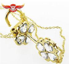 Cosplay !Shugo Chara ! Hinamori Amu open Key & lock couples Necklace White