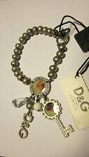 D&G bracciale in accaio satinato con pendenti. D&G bracelet steel pendant