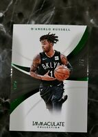 2018 Panini Immaculate Collection #55 D'Angelo Russell Green Refractor # 8/8