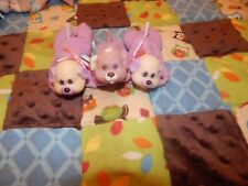 Vintage Hasbro Puppy Surprise Rare Purple Spotted Puppies Lot of 3 w/ Runt 1990s