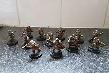 Warhammer40k imperial guard Tallarn Squad x12 Al Rahem & Lieutenant well painted