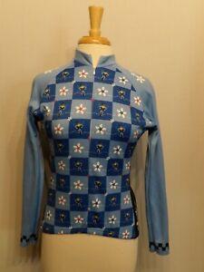 Women's Terry Long Sleeve Fleece Lined 3/4 Zip Cycling Jersey Fly Like a Girl