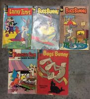 Bugs Bunny Vintage  Comic Books Lot of 5.                  N