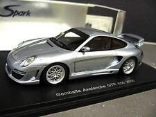Porsche 911 997 Gemballa Avalanche Tuning GTR 650 2006 argent Spark Resin 1:43