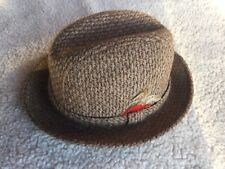 HOPKINS FIFTH AVENUE MEN S BROWN TWEED HAT MEDIUM 7-7 1 8 FEATHERS SEARS 089a0ef37ce9