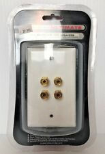 NEW* NEXXTECH ULTIMATE  Speaker  Wire Wall Plate For  2 Speakers*FREE SHIPPING