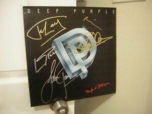 Deep Purple signed lp ***Perfect Strangers ***5 band members ****1984