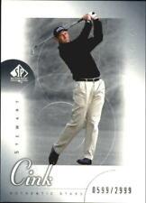 2001 SP Authentic Golf Card #65 Stewart Cink AS Rookie /2999