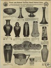 1924 PAPER AD Hand Painted Gold Vase Vases Urn Cake Set Plates Rookwood Look