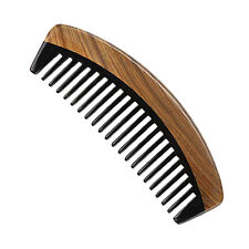 Wood Comb Horn Wide Tooth Handmade No Static Hair Loss Massage Hair Brush Comb