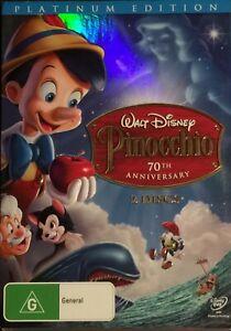 Pinocchio : Platinum 70th Anniversary Edition (DVD, 2009, 2-Disc Set) BRAND NEW