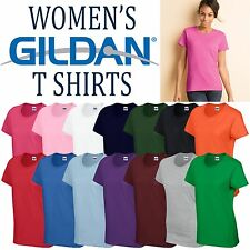 Gildan Heavy Cotton Ladies T Shirt Top Womens Girls Plain All Sizes + Colours