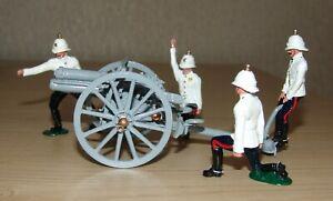 Britains Premier Series 8918 - 13 PDR Gun R.H.A. & 4 Man Detachment