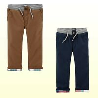 Oshkosh B'gosh Baby/Toddler Boys Flannel Lined Pants Blue or  Brown