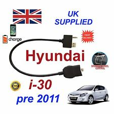 para Hyundai i30 iPhone SE 5 6 7 8Plus x Audio Cable Volante HABILITADO 9-11