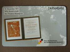 Nederlands Duitse Chip kaart MINT Ongebruikt  - Willy Brandt / Nobelpreis