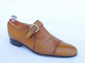 Stefano Ricci Handmade Tan Calfskin Monk Strap 7.5 UK / 8.5 US $2200