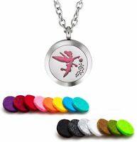Essential Oil Diffuser Necklace Pendant Stainless Steel Aromatherapy Fairy