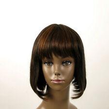 perruque afro femme 100% cheveux naturel carré méchée noir/cuivré JACKIE 01/1b30