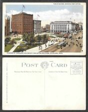 Old Ohio Postcard - Cleveland - Public Square, Post Office, Other Buildings
