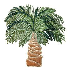 ID 1741Z Tropical Palm Tree Patch Beach Coconut Embroidered Iron On Applique