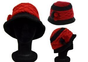 Cappello Berretto Francese Creation di Lana Invernale Paris Rossi / Nero