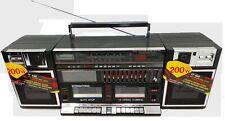 Retro/VINTAGE BOOMBOX Ghetto Blaster-Twin Cassette & entrada de audio-nuevo Y Sellado