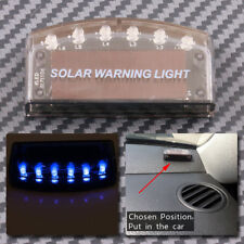 Blue Solar Energy Car Anti-Theft Security Alarm Warning Theft Flash Sensor Light